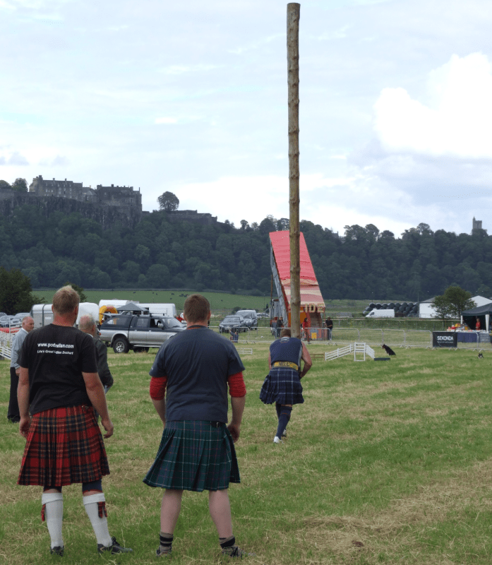 Caber tossing
