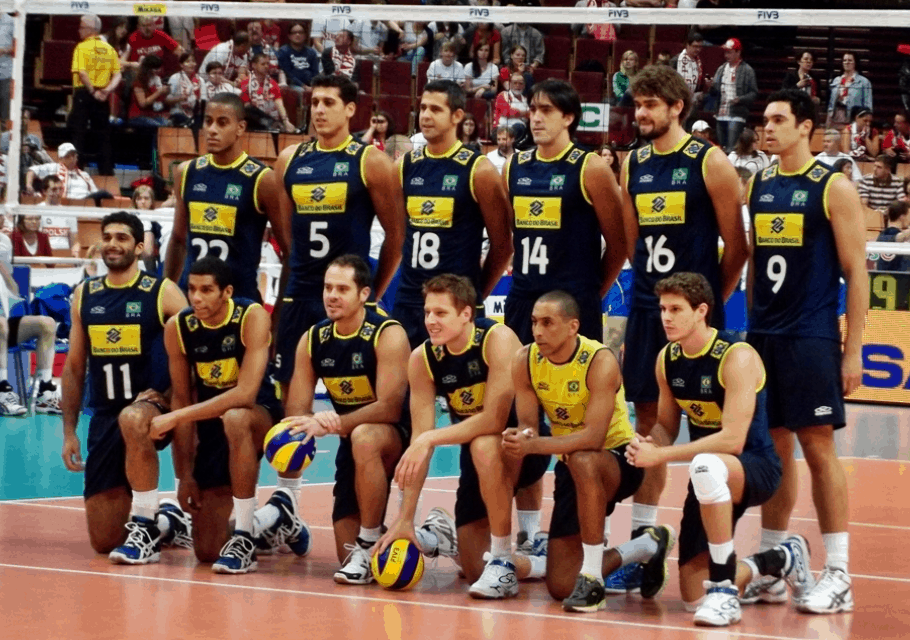 where is volleyball most popular - brazil national team