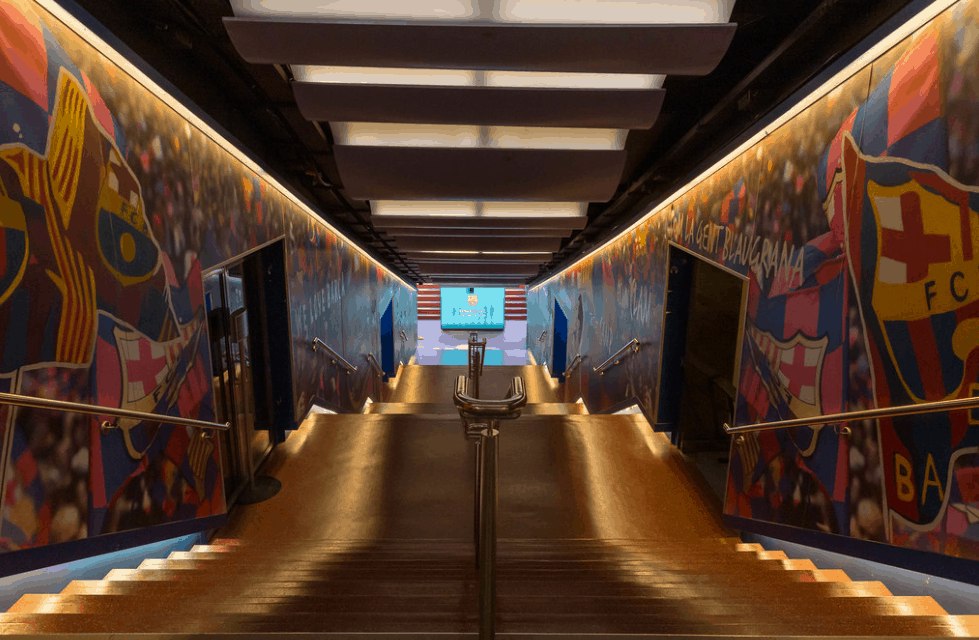 Camp Nou players tunnel