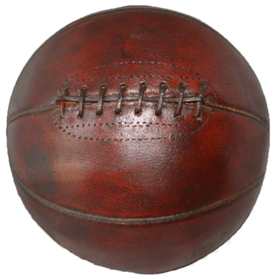 historic basketball with laces