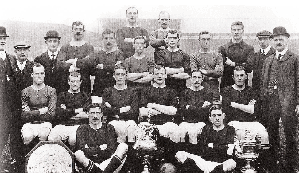 The team that won the first league title in 1908.