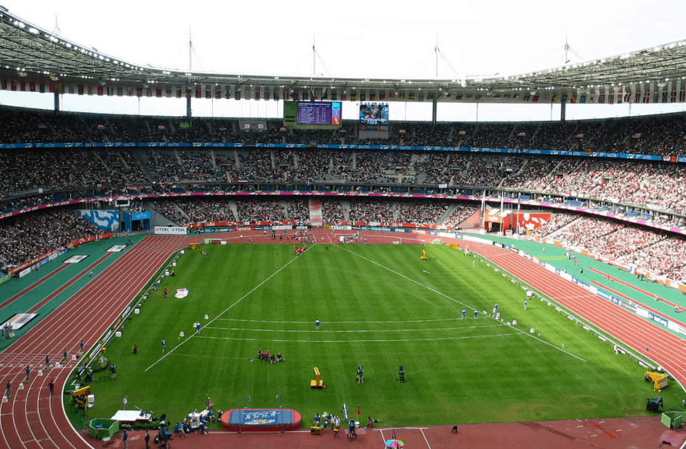Stade de France used during athletics competition