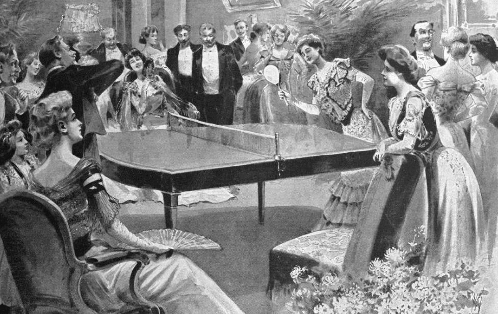 Table tennis in the early 20th century