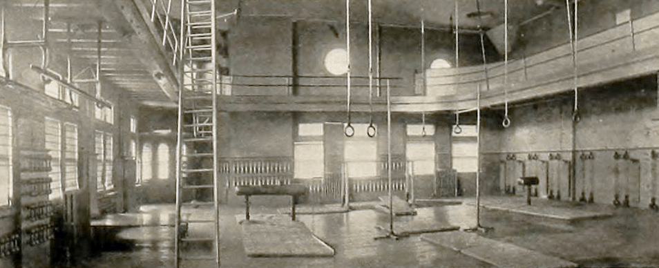 The first volleyball gym