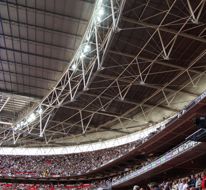 The Wembley roof