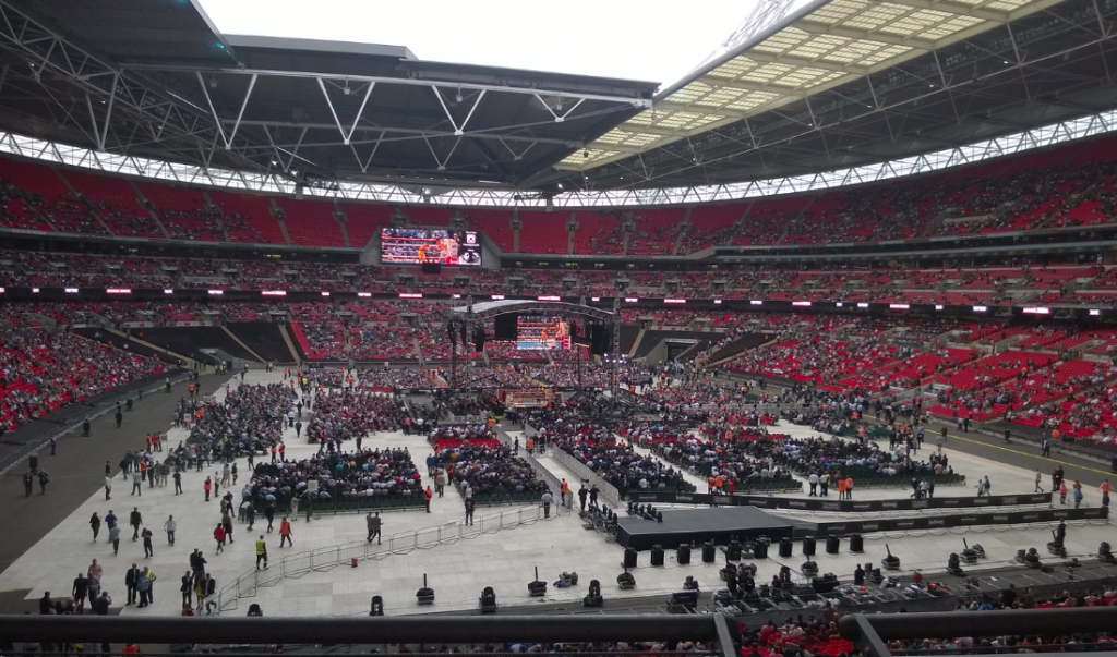 Wembley during a boxing event
